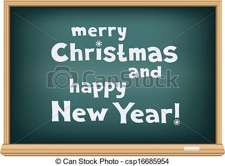 Message clipart school board Clipart board holidays Text blackboard