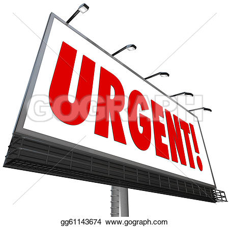 Message clipart urgent And word billboard sign