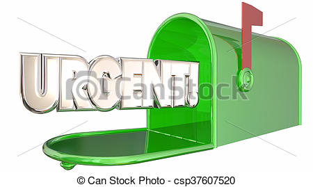 Message clipart urgent Urgent Note Note Clip Illustration