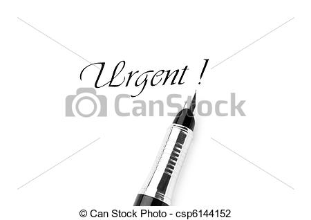 Message clipart urgent Urgent isolated on Pen of
