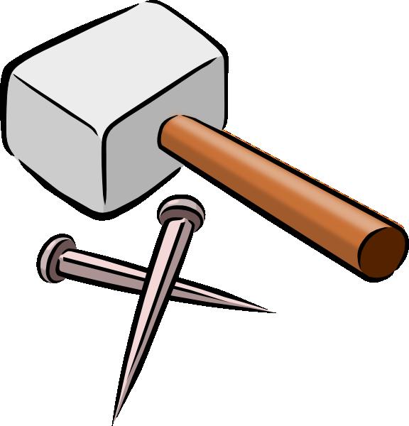 Vector clipart hammer #4