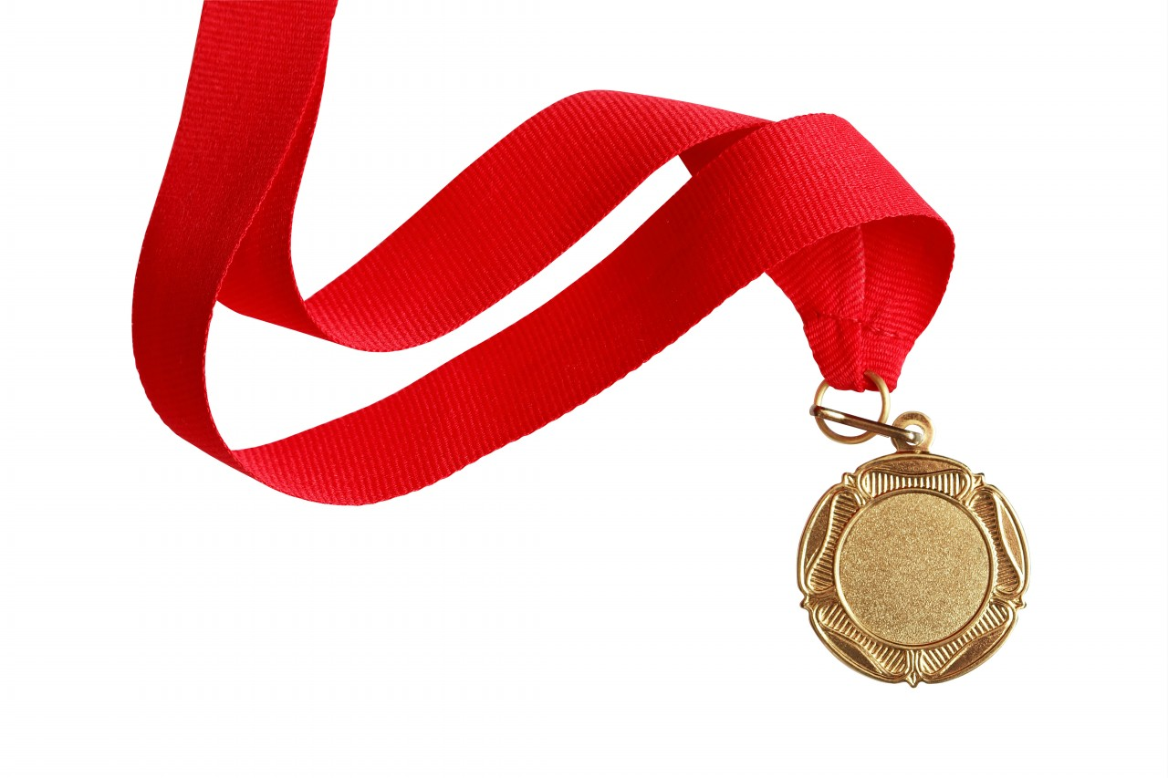 Metal clipart ribbon medal Bronze long Elsoar with Gold