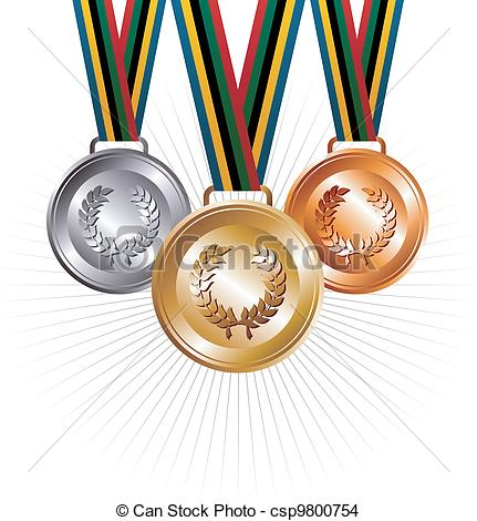 Metal clipart ribbon medal Of medals silver and medals