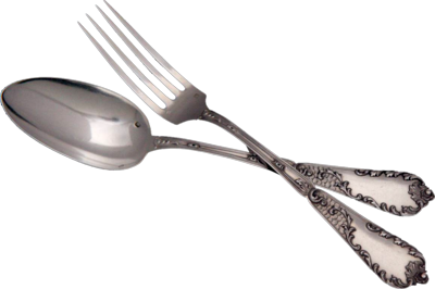 Silver clipart number 8 Spoon And Image Images PNG
