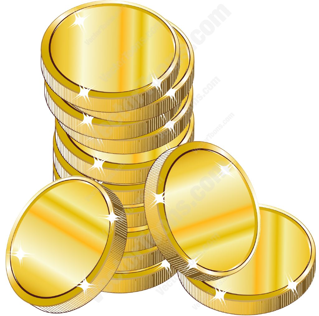 Coin clipart silver and gold Of Coins More Stack coins