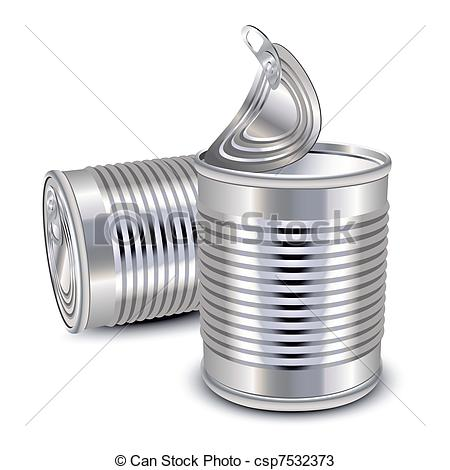 Metal clipart tin Cans cans of closed tin