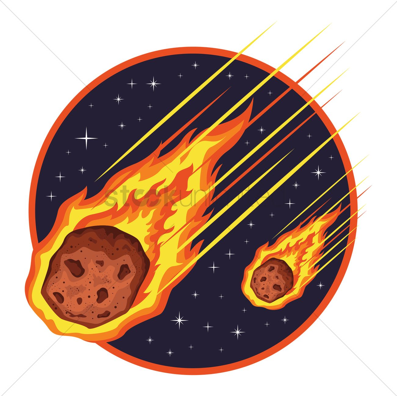 Asteroid clipart meteor shower #5