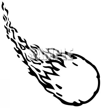 Asteroid clipart comet tail #1