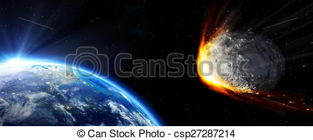 Meteor clipart impact Impact collision collision Earth csp27287214