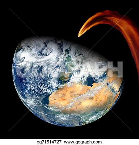 Meteor clipart impact Nasa  by earth Meteor