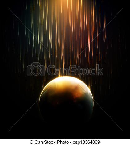 Meteor clipart meteor shower Apocalypse shower Art csp18364069