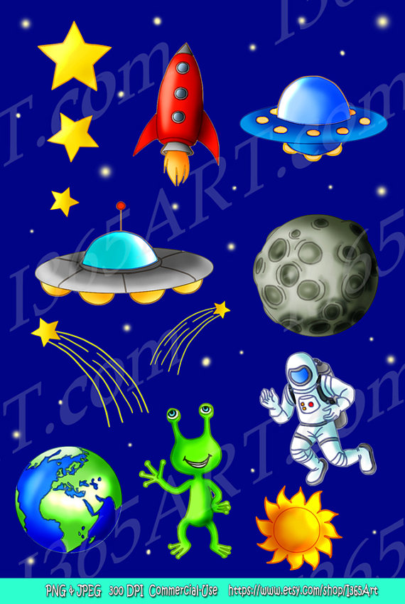Science clipart outer space Art Clipart Co Astronaut graphics