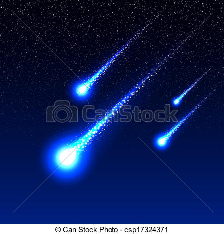 Asteroid clipart meteor shower #4