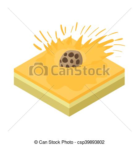Meteor clipart yellow Icon falling csp39893802 Clipart of