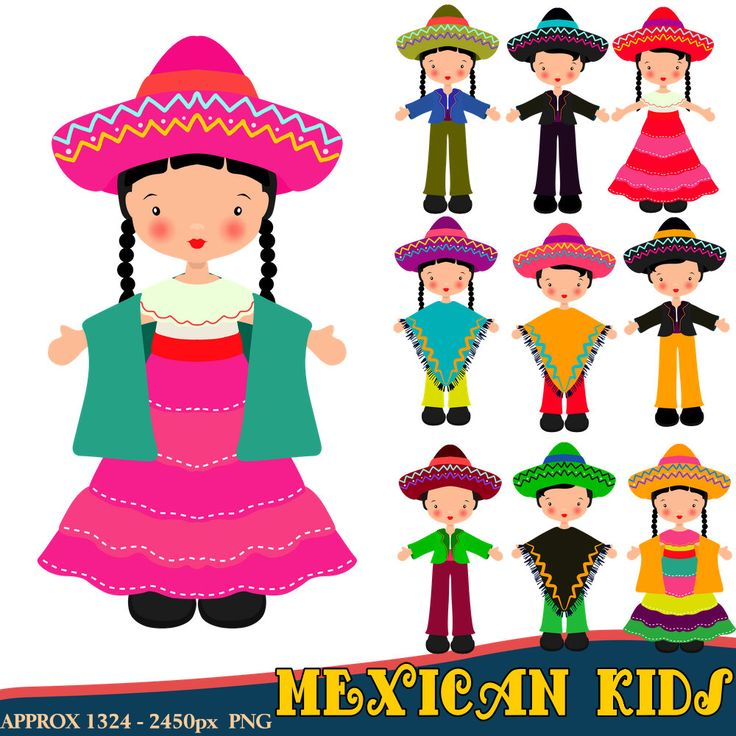 Red Dress clipart mexican dress On Mexican Clipart 20+ Children