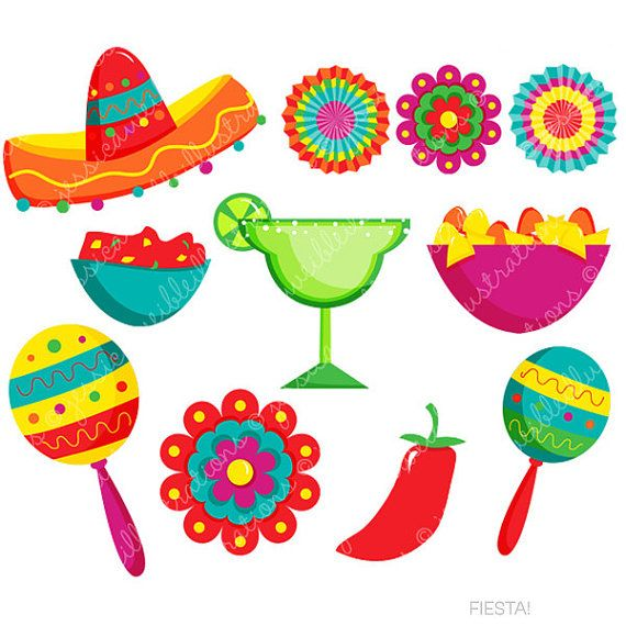 Mexican clipart Art on Fiesta Mexican Clipart