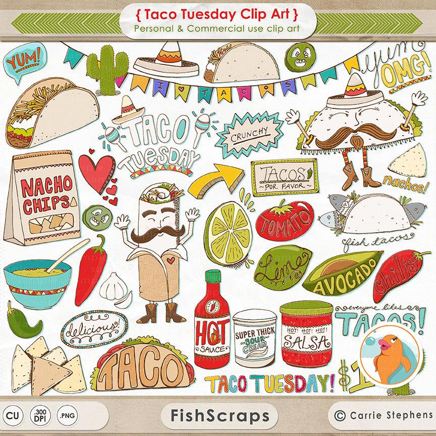 Taco clipart hispanic food Fiesta de Taco Tuesday Cinco