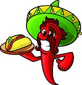 Mexican clipart Mexican Food Clipart GoGraph Fast Food Pepper Royalty