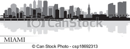 Vector images clip  Miami