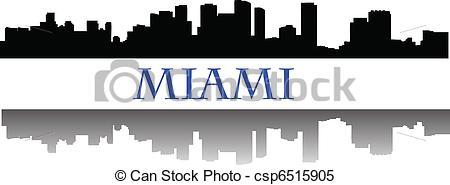 Miami skyline csp6515905 Vector Clip