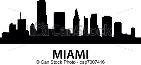 Miami clipart cityscape Detailed of of Vector of