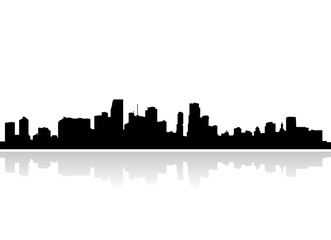 Miami clipart cityscape Vector skyline kniveset by Search