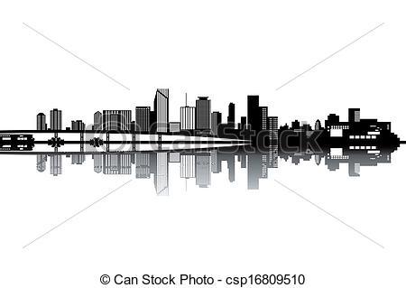 Miami clipart cityscape And csp16809510 skyline Miami vector