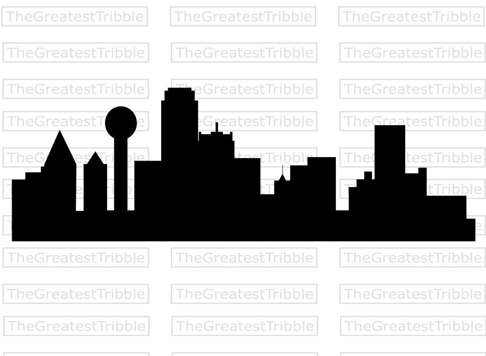 Miami clipart dallas skyline  Skyline SVG Vector file
