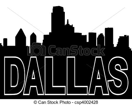 Miami clipart dallas skyline  of skyline black csp4002428