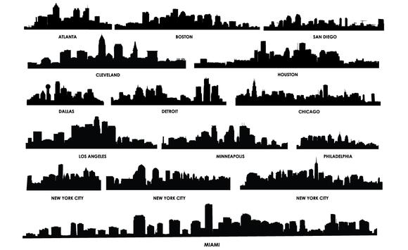 Miami clipart philly skyline #2