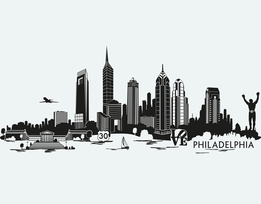 Miami clipart philly skyline #1