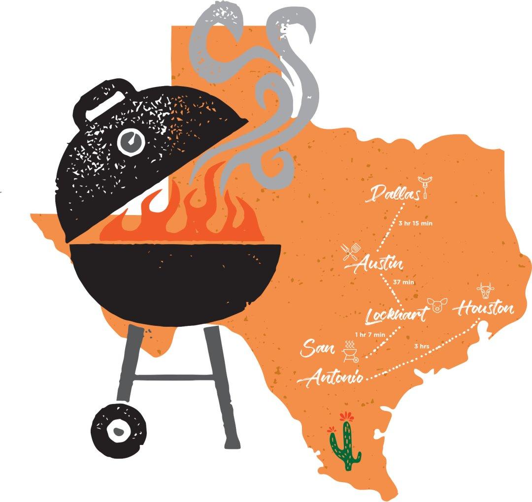 Miami clipart texas Dallas barbecue summer road needs