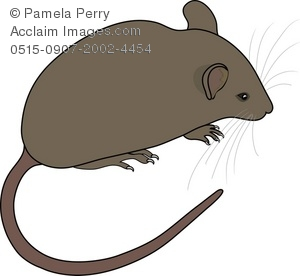 Mouse clipart brown mouse #2