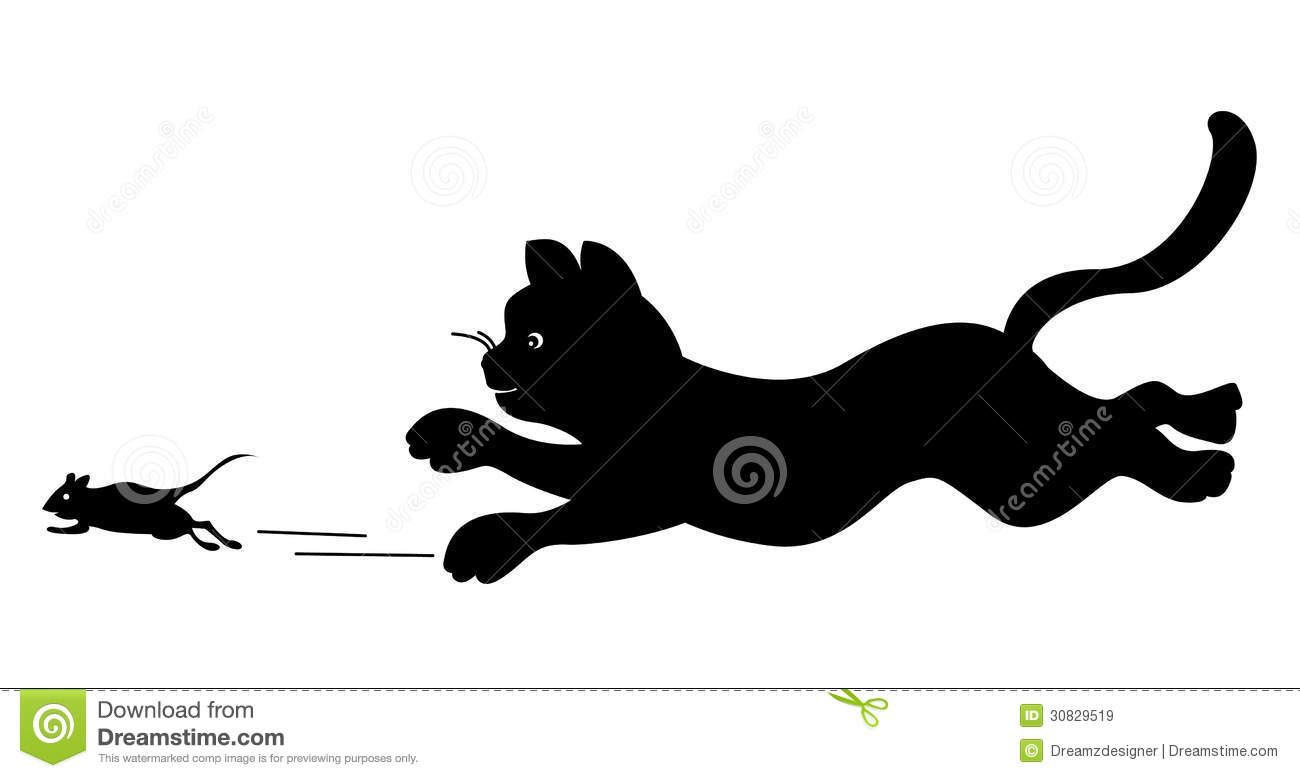 Mouse clipart cat dog Chasing clipart Mouse Royalty Cat