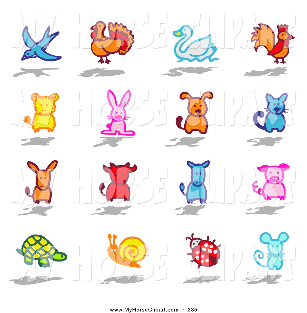 Mouse clipart cat dog Stock Swan Turtle Ram Horse