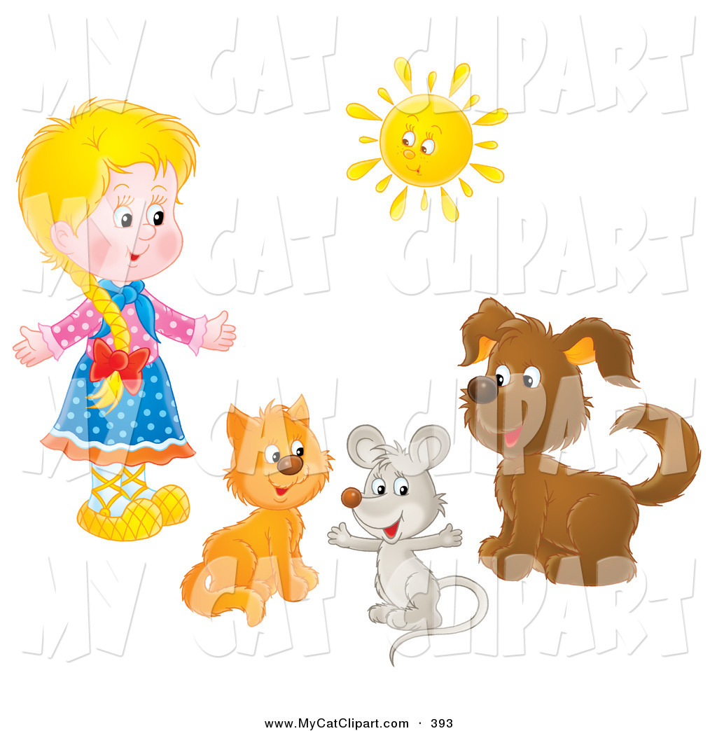 Mouse clipart cat dog Cat Girl Art a Mouse