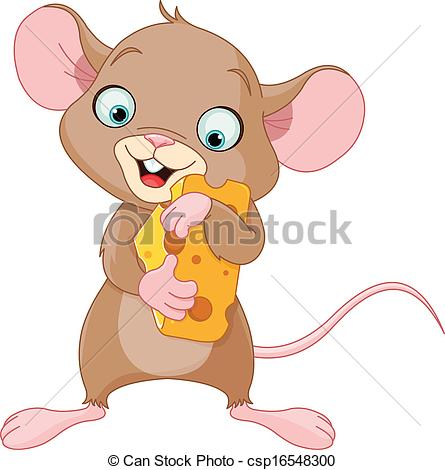 Drawn rodent cheese Of cheese Clipart cute of