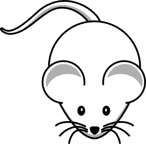 Simple clipart mouse #13