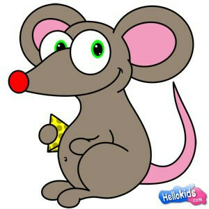 Mouse clipart easy animal Animal and Ji Pin Pinterest