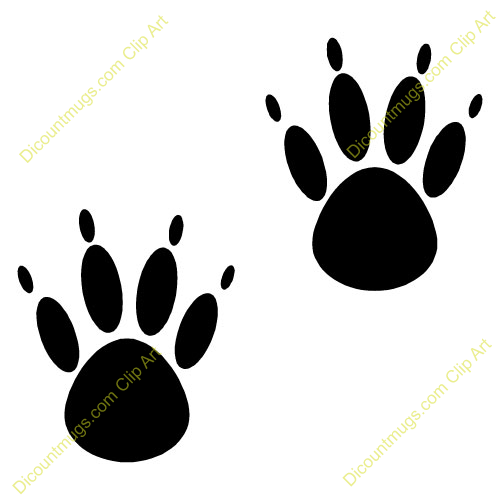Mouse clipart footprint #3