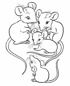Drawn rodent black and white cartoon Animal Farm page Farm Family
