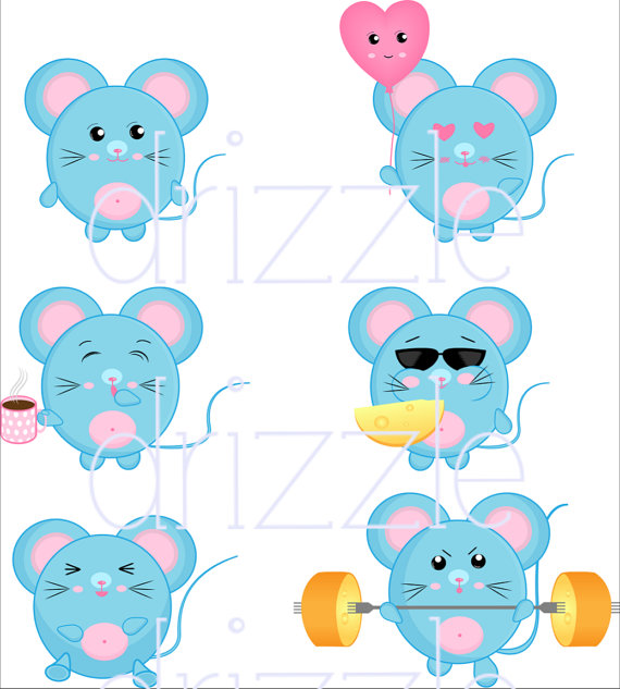 Mouse clipart kawaii Clipart stickers mouse mouse stickers