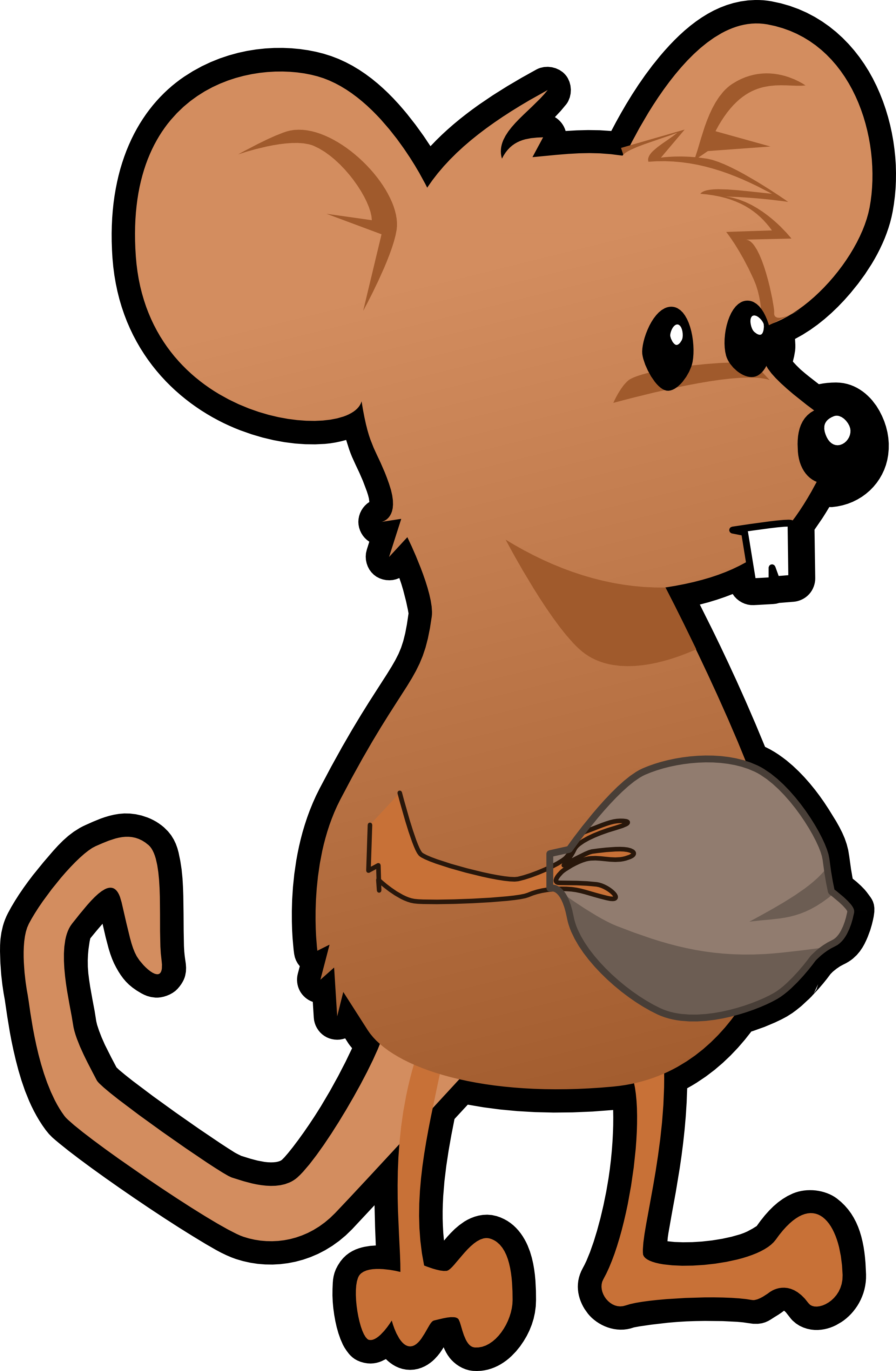 Orange clipart mouse Mouse Free White Black And
