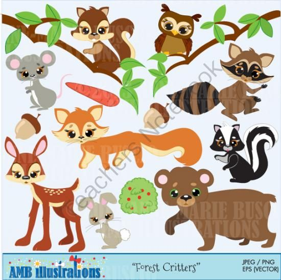 Rabbit clipart forest animal #2