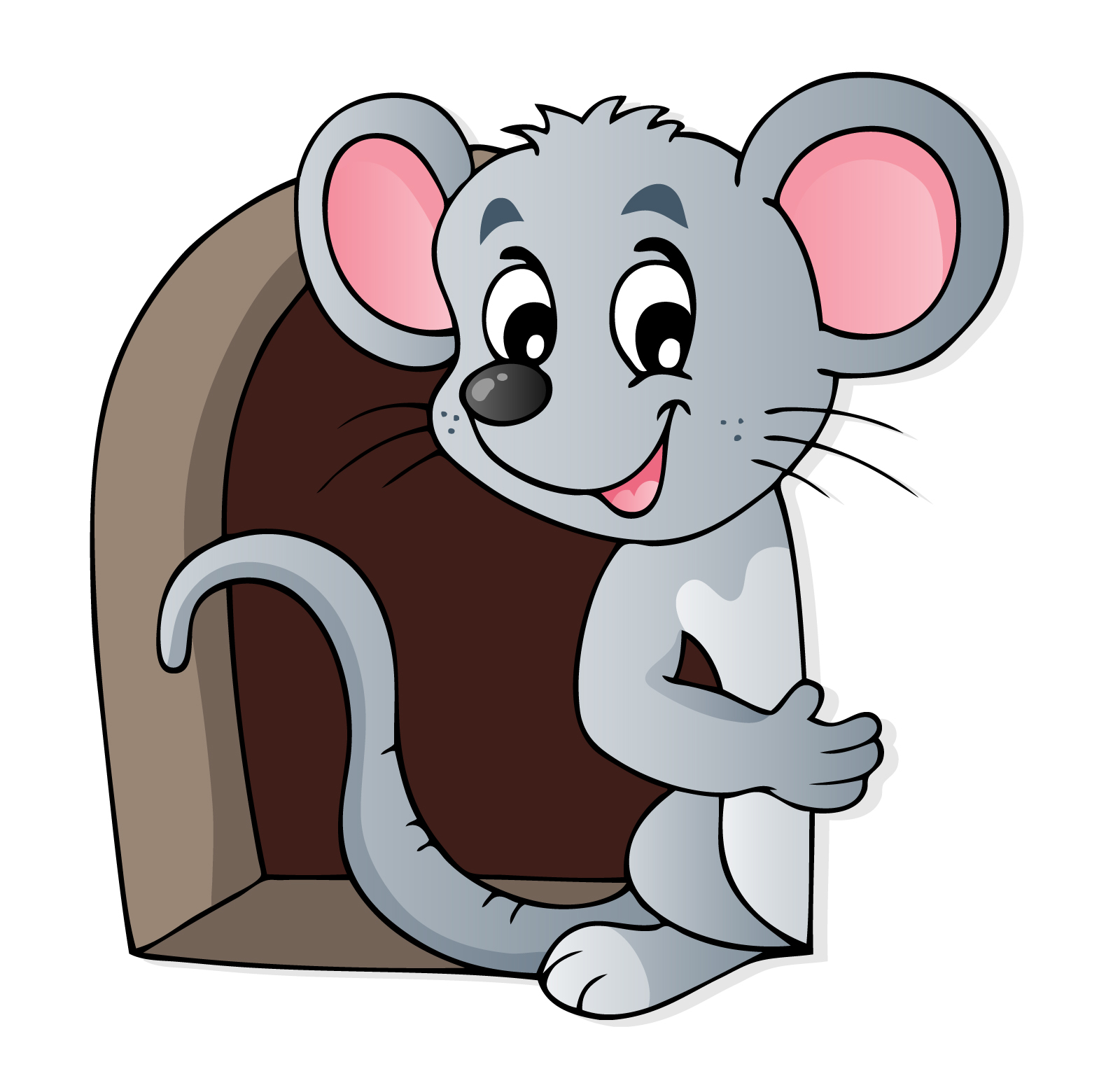 Mouse clipart mouse house Door Wall Mouse House Stickers