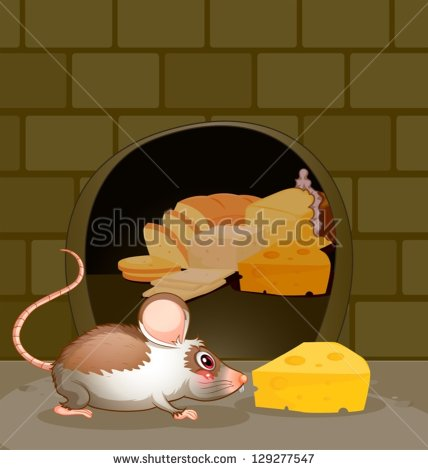 Mouse clipart easy animal Hole hole Rat clipart clipart