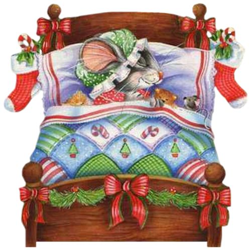 Bed clipart christmas IN  BED art CHRISTMAS