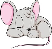 Mouse clipart easy animal Mouse Baby Sleeping seamless Art