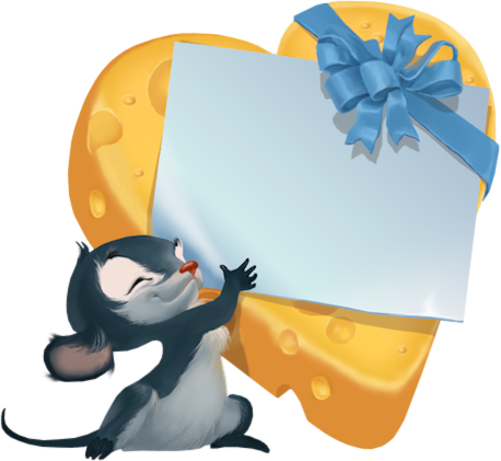 Cheese clipart small With Clipart Gift clip Mouse