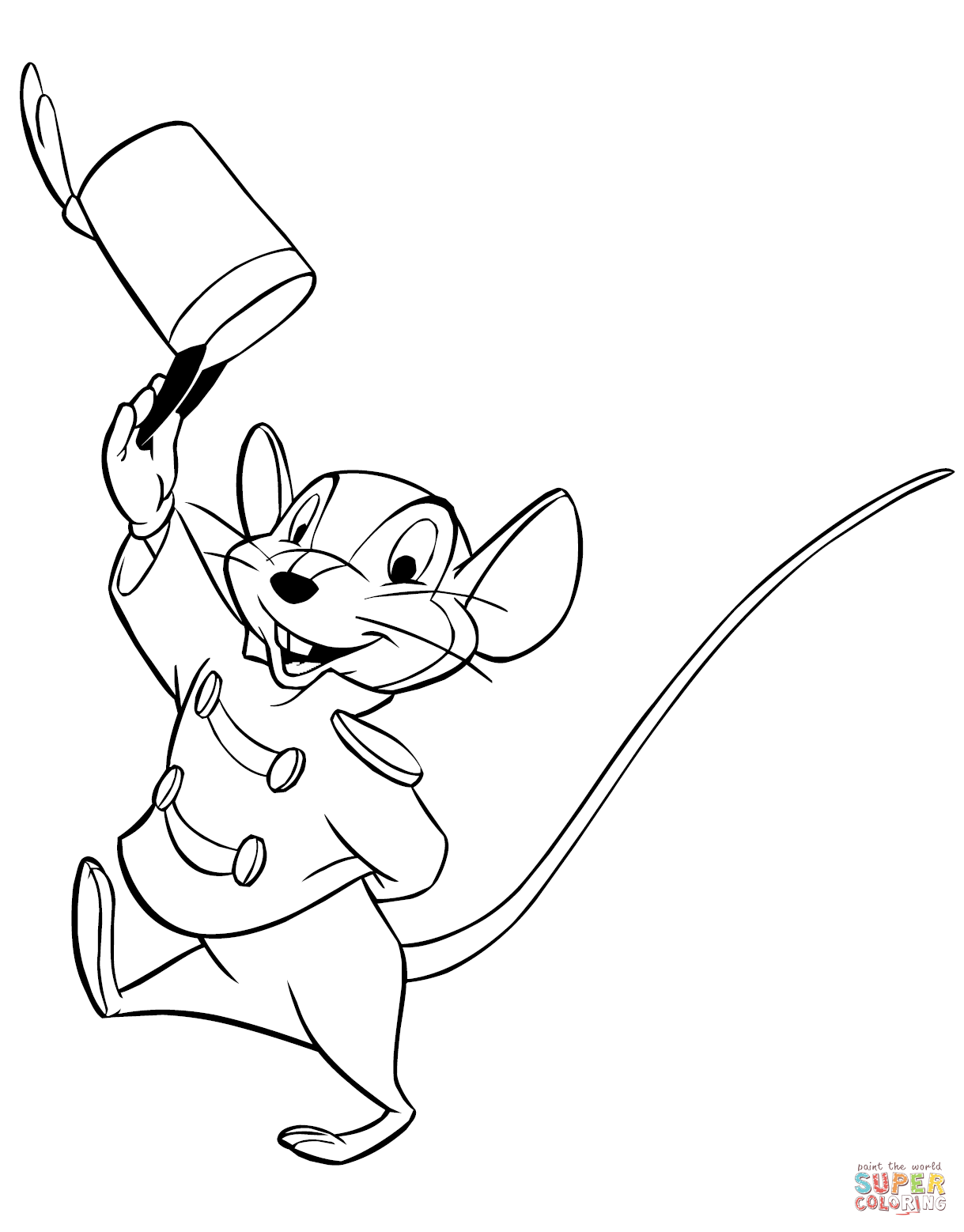 Mouse clipart timothy q Coloring Q Timothy coloring page